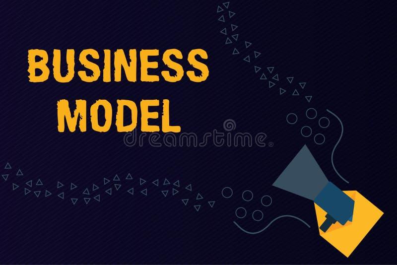 Segno del testo che mostra modello aziendale La foto concettuale che identifica le fonti di reddito progetta su come realizzare i immagine stock