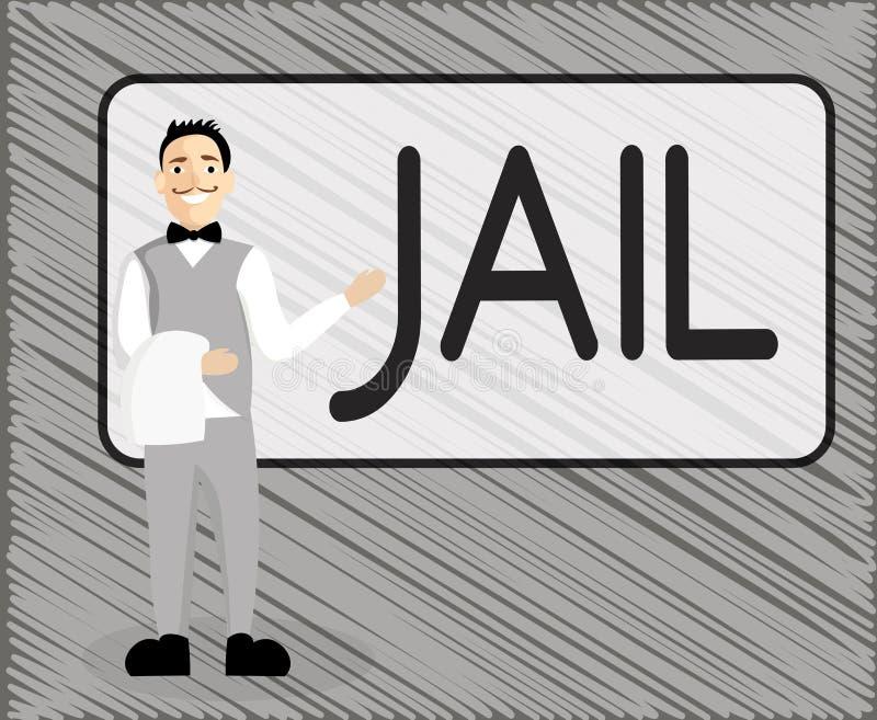 Segno del testo che mostra prigione Posto concettuale della foto per la relegazione della gente accusata e condannata di un crimi illustrazione vettoriale