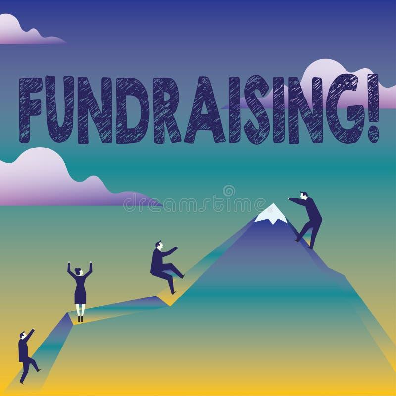 Segno del testo che mostra raccolta di fondi Ricerca concettuale della foto del contributo finanziario per causa di carità o l'af illustrazione di stock