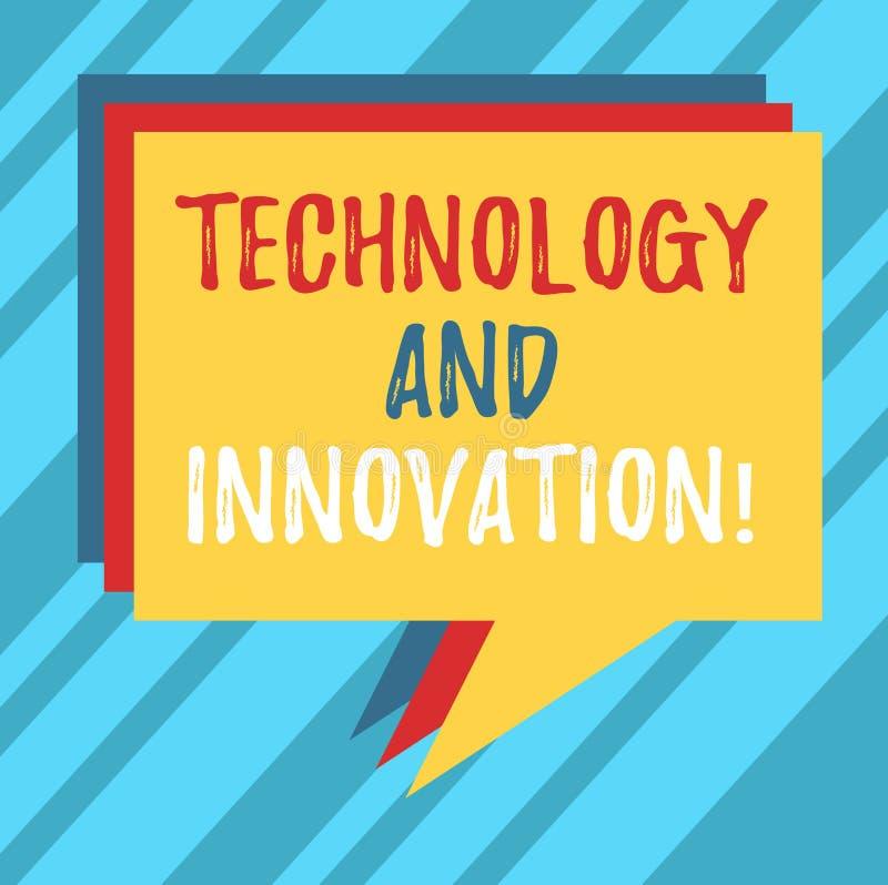 Segno del testo che mostra tecnologia ed innovazione I cambiamenti tecnologici della foto concettuale dei prodotti e dei servizi  illustrazione vettoriale