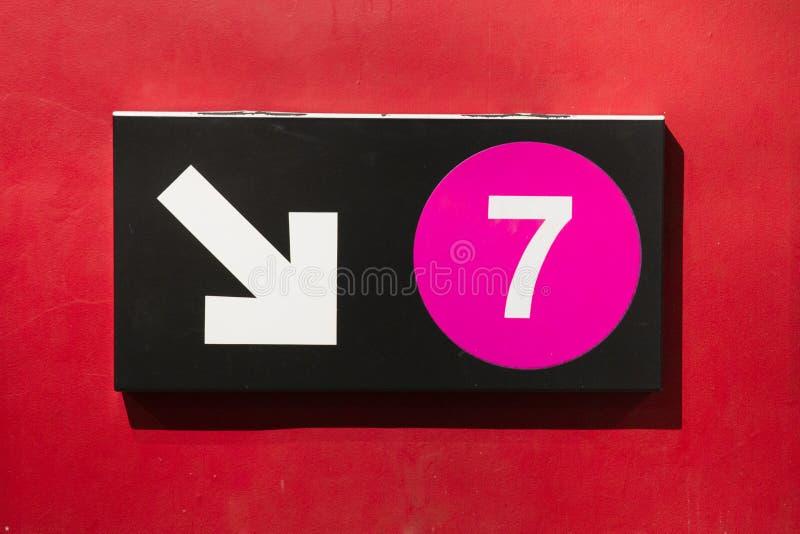 Segno del treno di New York 7 immagini stock