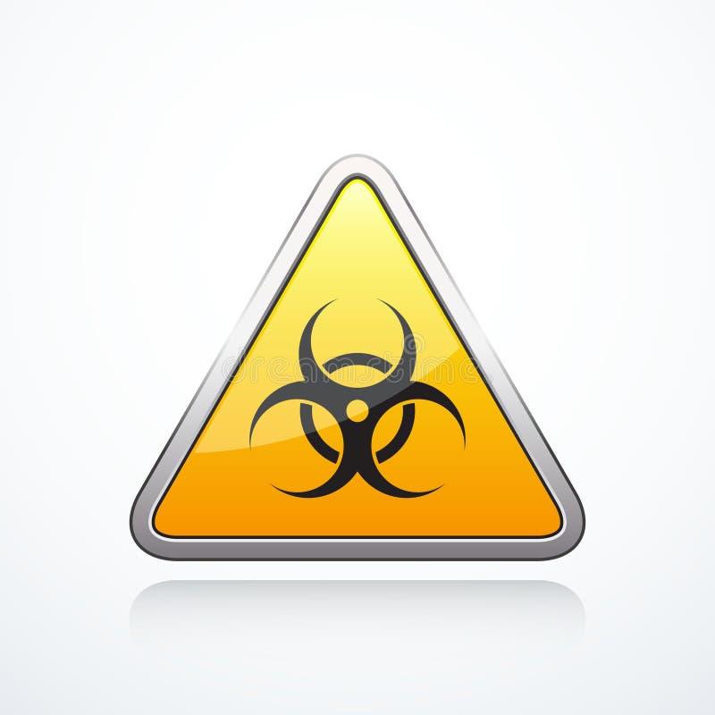 Segno del triangolo di rischio biologico royalty illustrazione gratis