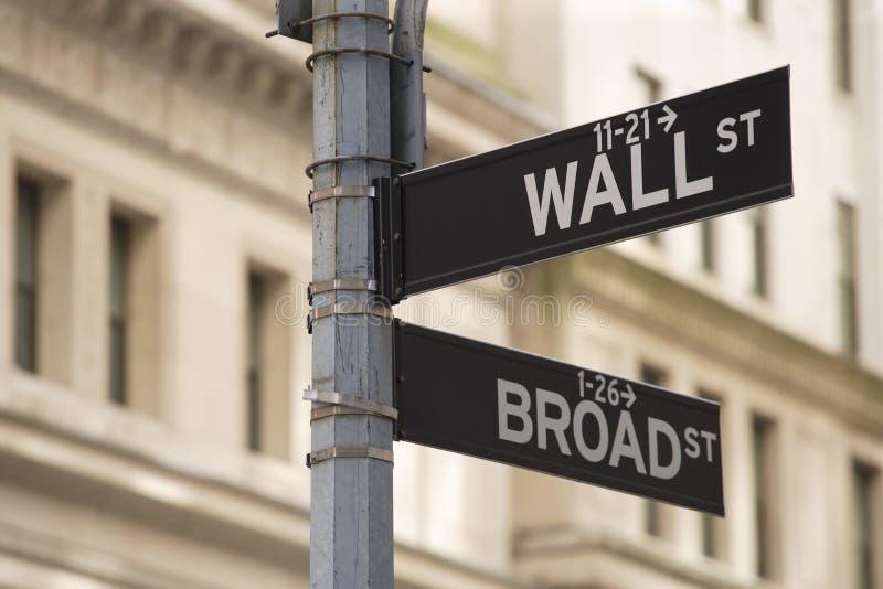 Segno del Wall Street immagine stock libera da diritti