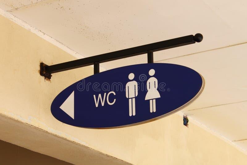 Segno del WC immagine stock