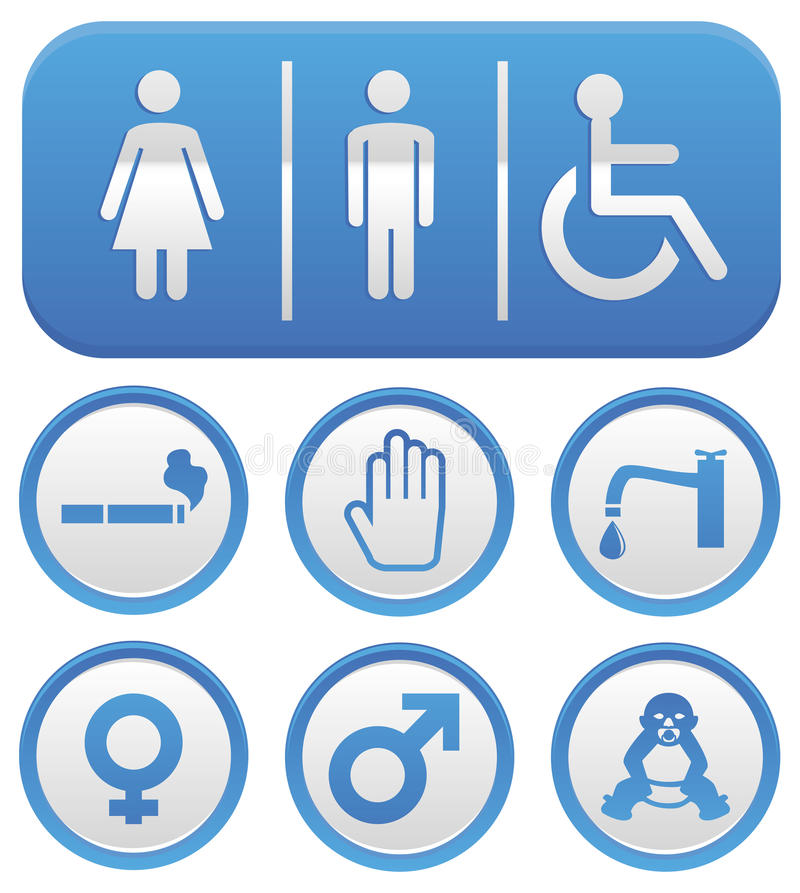 Segno del wc di vettore illustrazione di stock