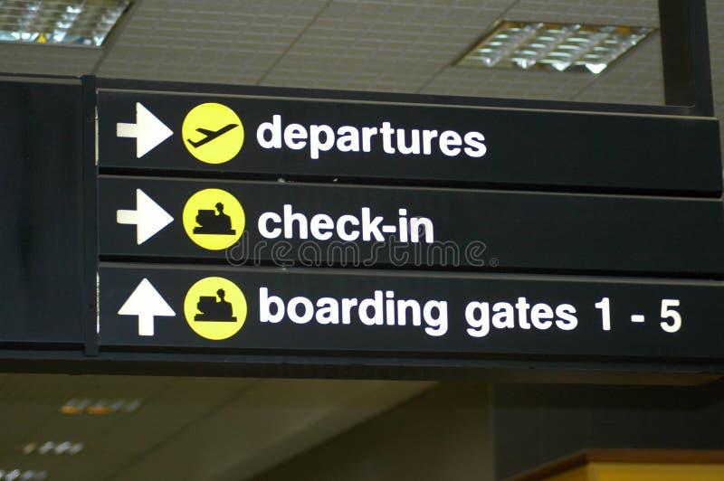 Segno dell'aeroporto fotografia stock libera da diritti