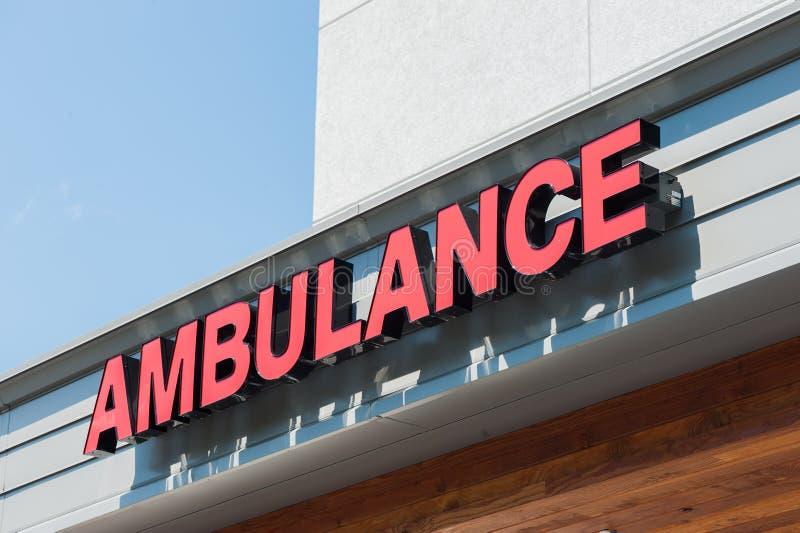 Segno dell'ambulanza fotografia stock libera da diritti