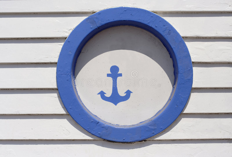 Segno dell'ancoraggio immagine stock