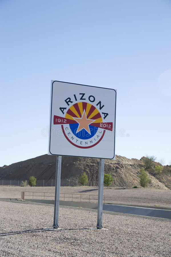 Segno dell'Arizona immagini stock libere da diritti