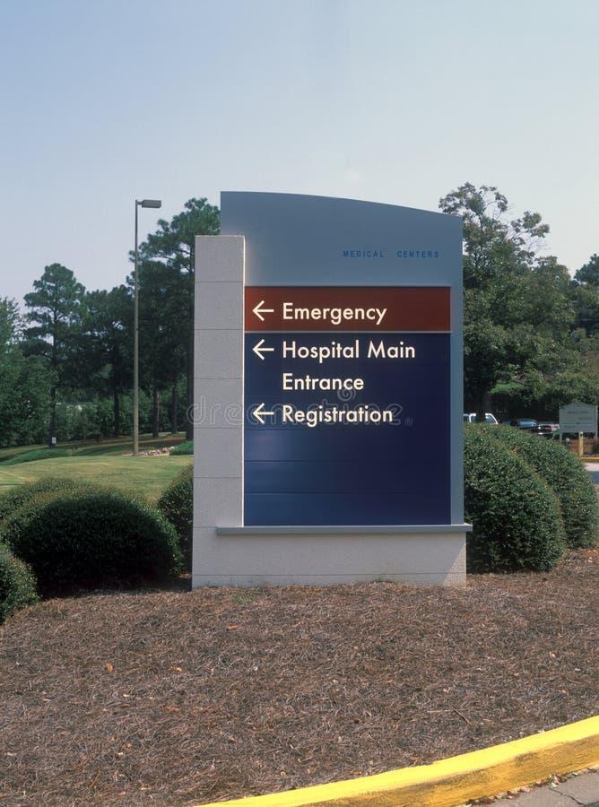 Segno dell'entrata dell'ospedale fotografia stock
