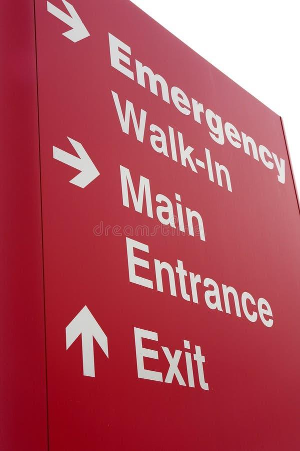 Segno dell'entrata dell'ospedale di emergenza immagine stock libera da diritti