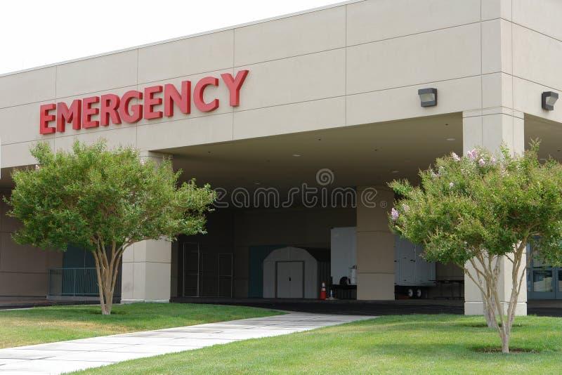 Segno dell'entrata di emergenza di Hosptal immagini stock libere da diritti