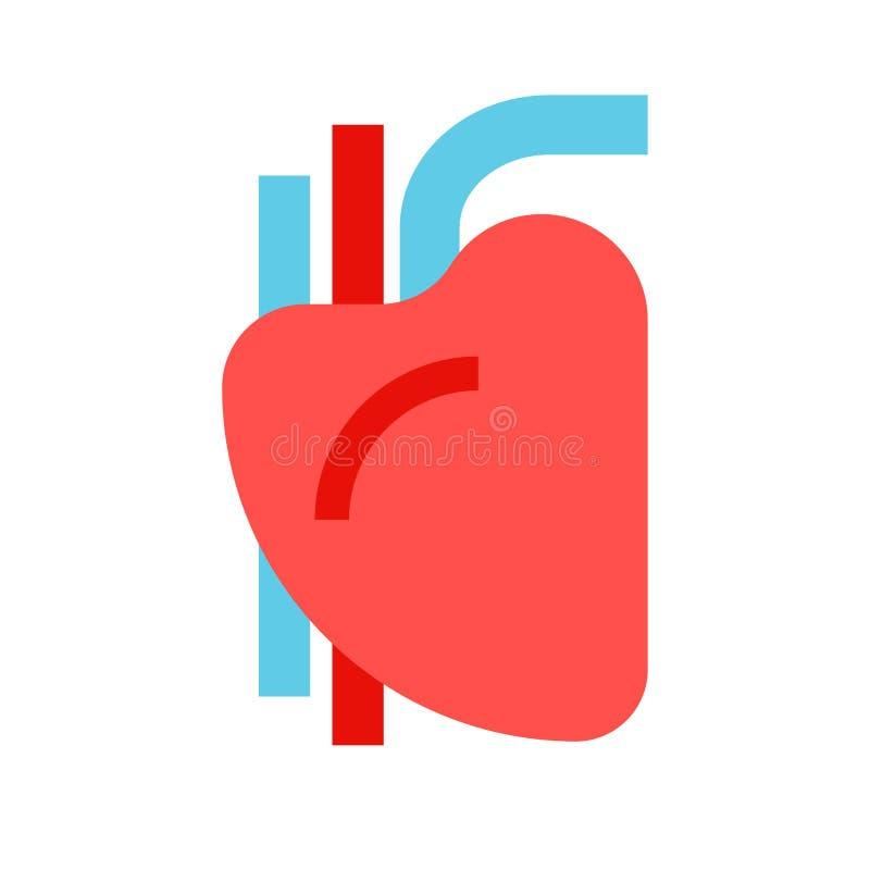 Segno dell'essere umano del cuore Organo dell'uomo Illustrazione di vettore illustrazione di stock