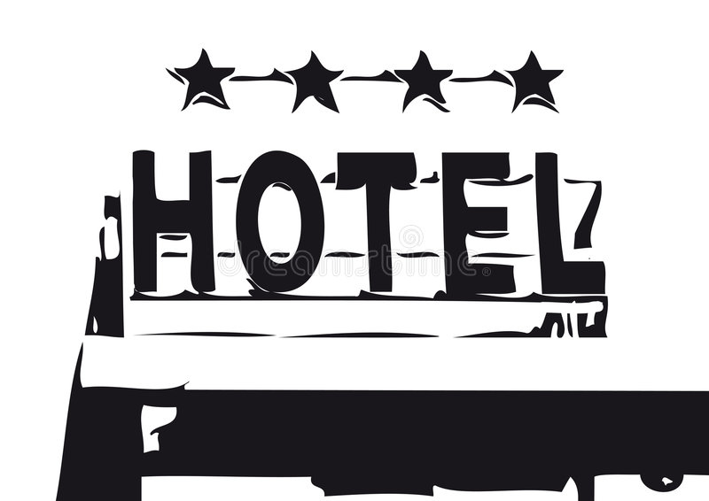 Segno dell'hotel (vettore) royalty illustrazione gratis