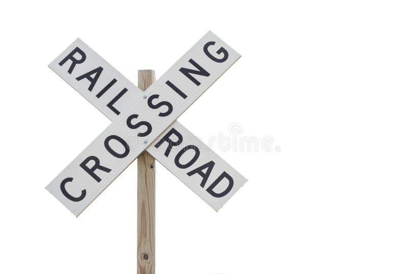 Segno dell'incrocio di ferrovia fotografia stock
