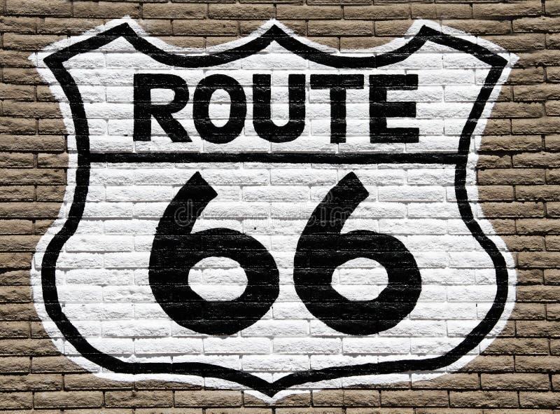 Segno dell'itinerario 66 immagini stock