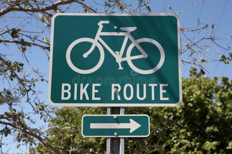 Segno dell'itinerario della bici immagine stock