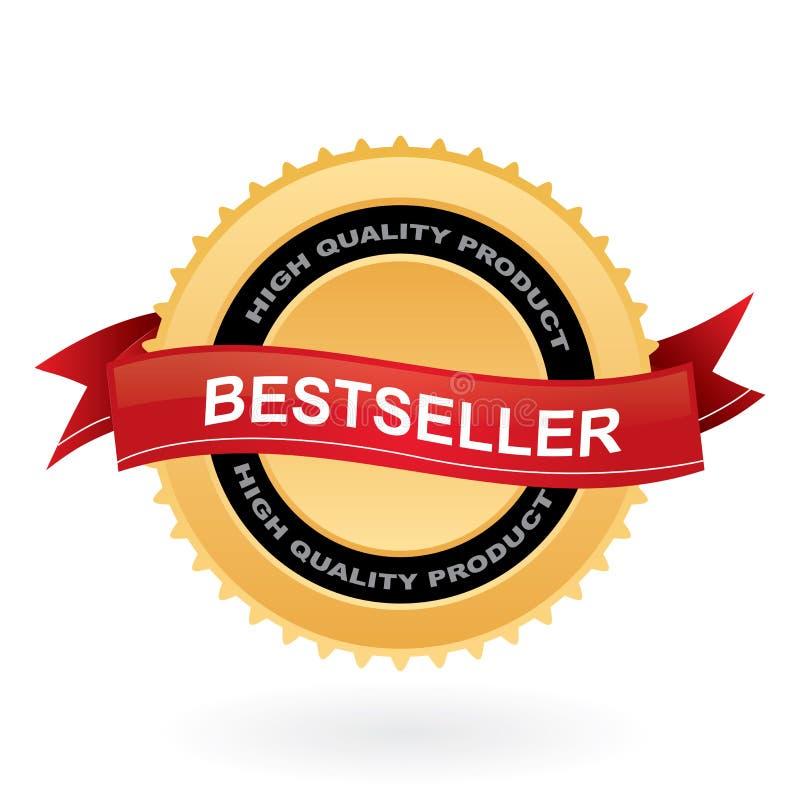 Segno dell'oro del bestseller illustrazione vettoriale