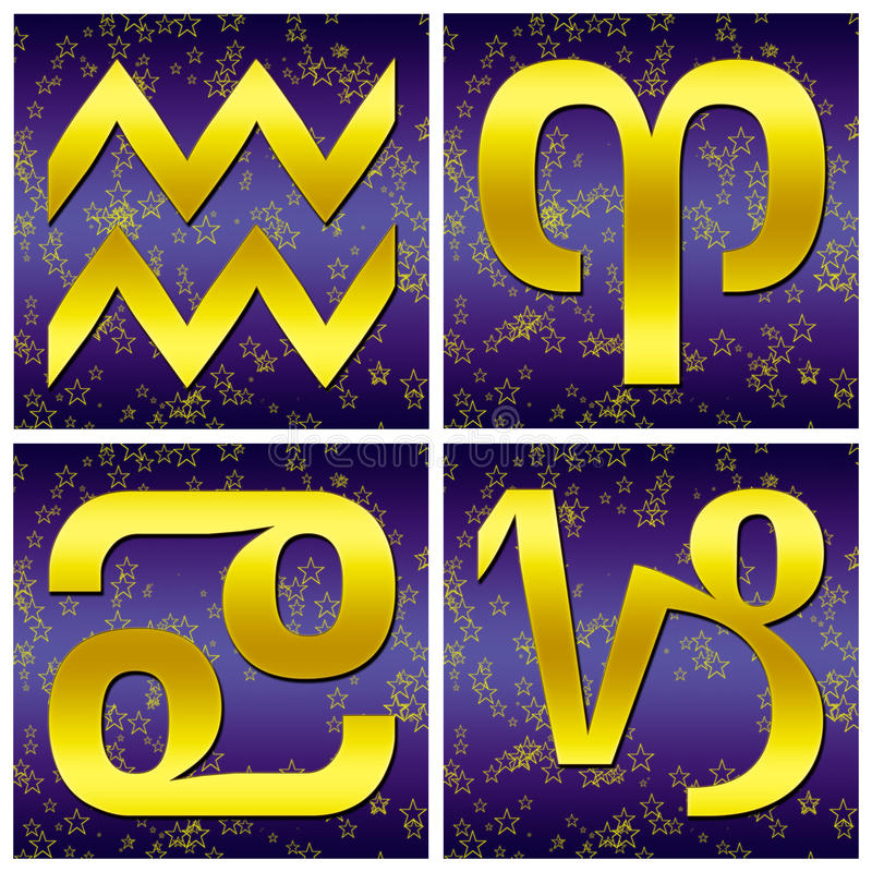 Segno dell'oro dello zodiaco (01) royalty illustrazione gratis