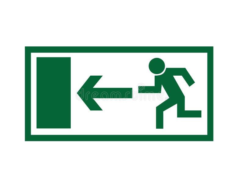 Segno dell'uscita di sicurezza illustrazione di stock