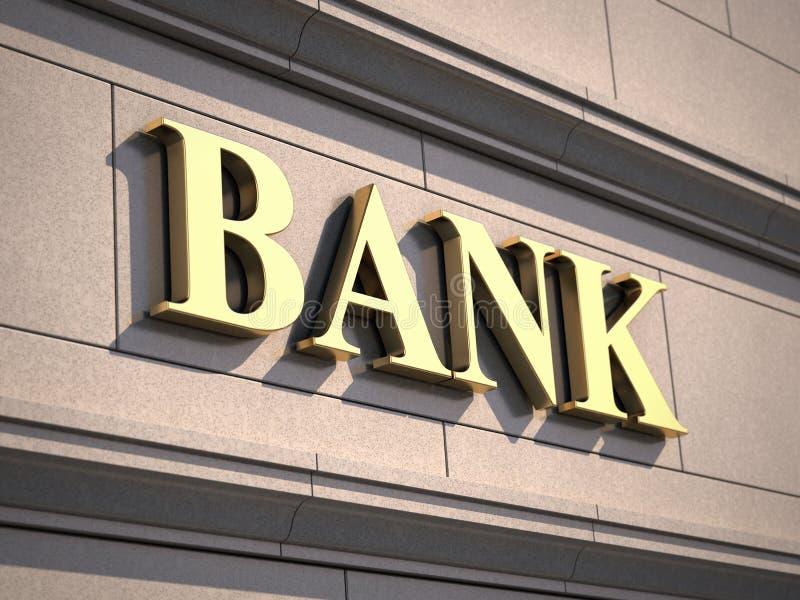 Segno della Banca su costruzione royalty illustrazione gratis