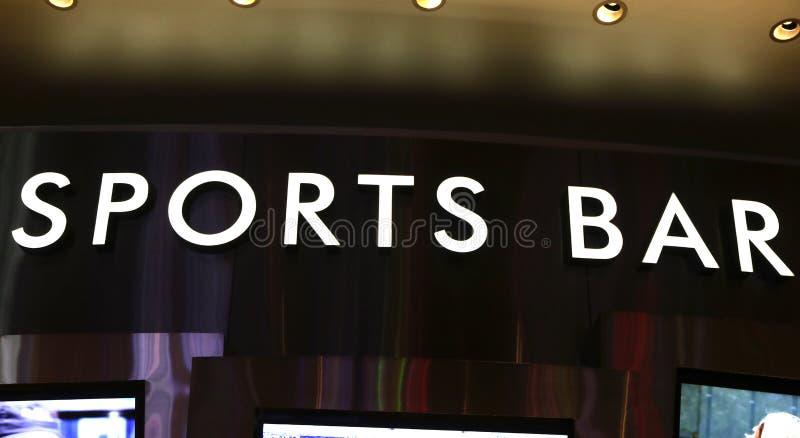 Segno della barra di sport fotografie stock