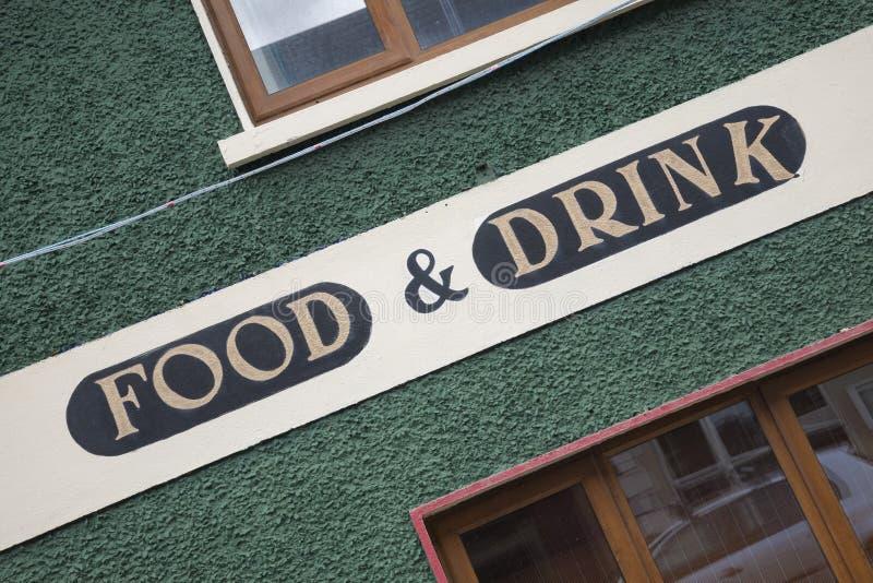 Segno della bevanda e dell'alimento immagini stock
