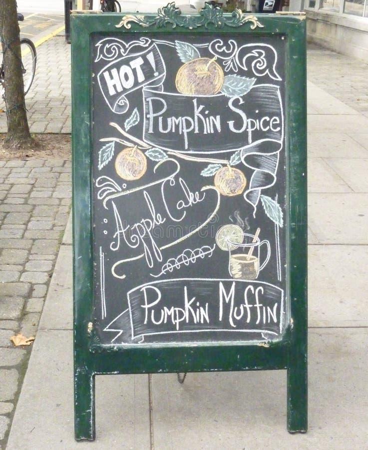 Segno della caffetteria immagine stock libera da diritti