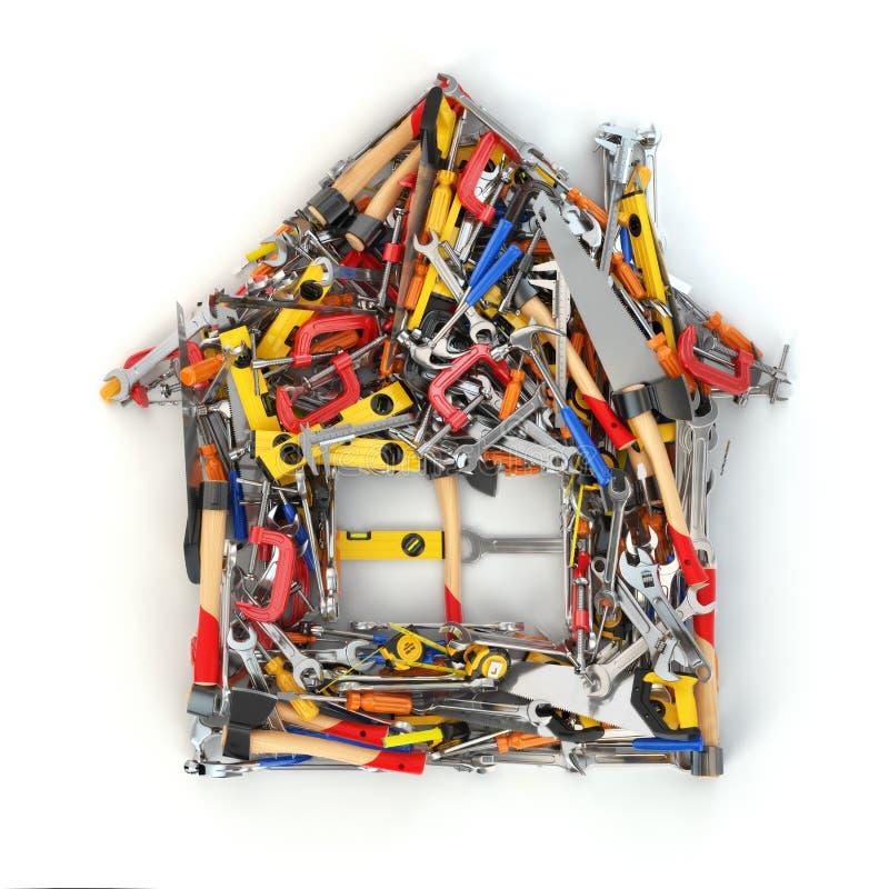 Segno della Camera dagli strumenti Concetto della costruzione Rinnovamento domestico o illustrazione vettoriale