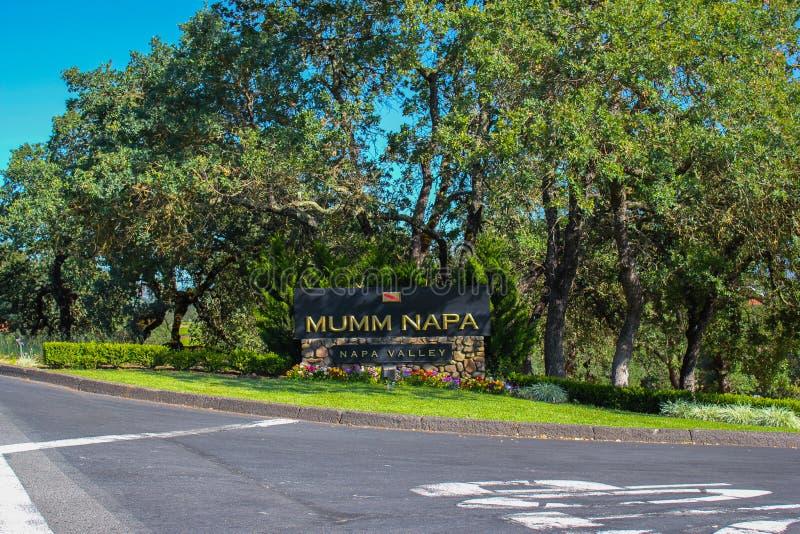 Segno della cantina di Mumm Napa Valley fotografia stock libera da diritti