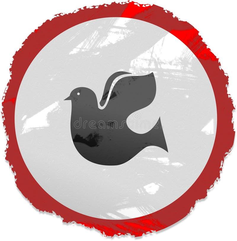 Segno della colomba di Grunge illustrazione vettoriale