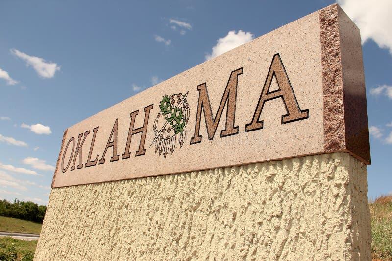 Segno della condizione dell'Oklahoma fotografie stock libere da diritti