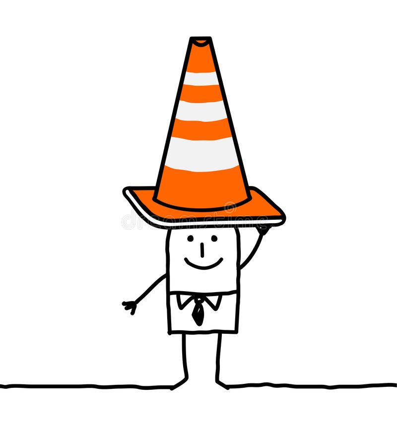 Segno della costruzione & dell'uomo d'affari royalty illustrazione gratis
