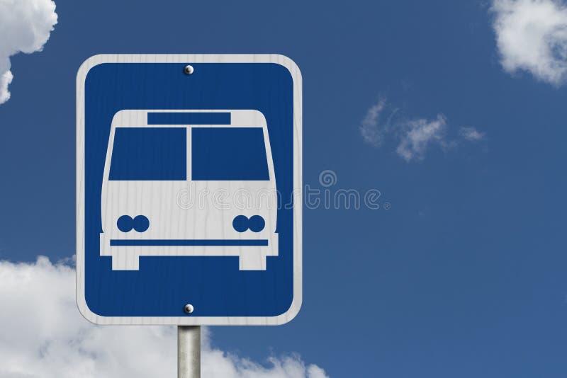 Segno della fermata dell'autobus fotografie stock