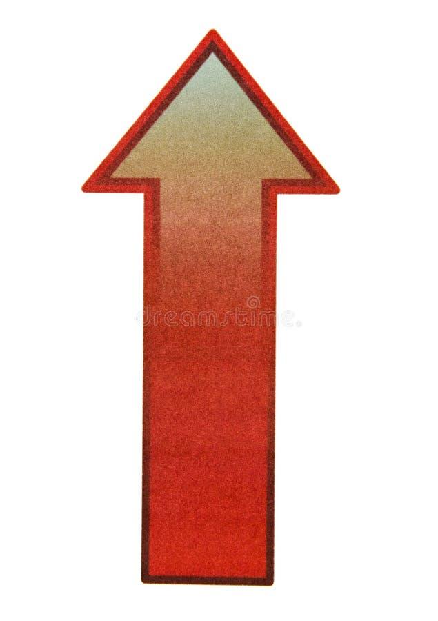 Segno della freccia di Uprise fotografie stock