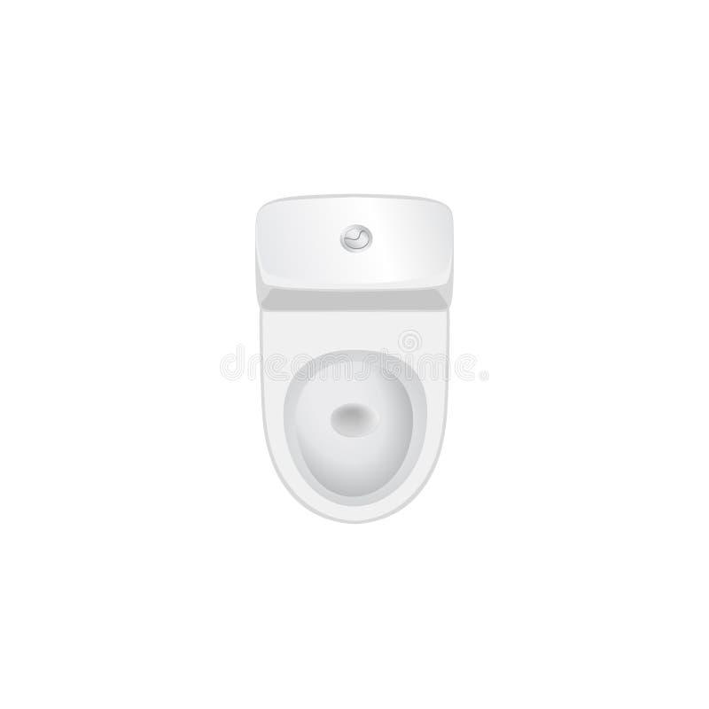 Segno della mobilia della stanza della toilette Vista superiore dell'oggetto interno del bagno T illustrazione vettoriale