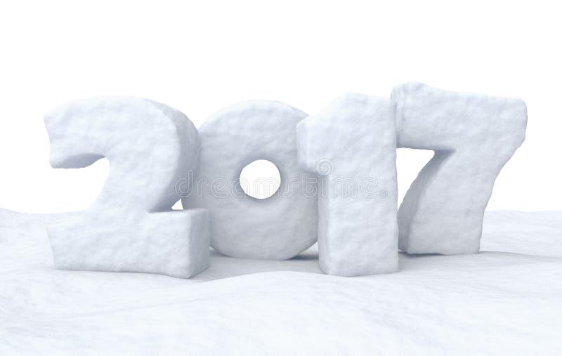 Segno della neve da 2017 buoni anni illustrazione di stock
