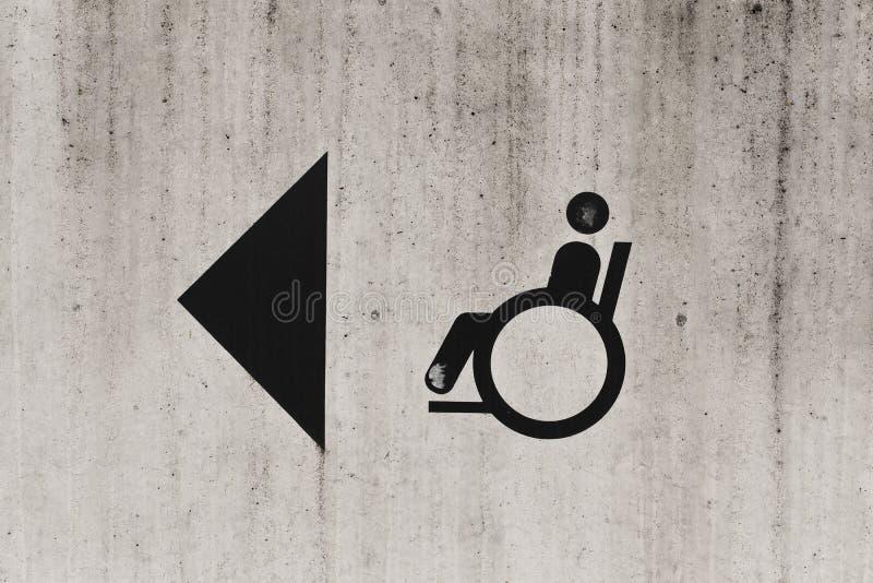 Segno della persona invalida immagine stock libera da diritti