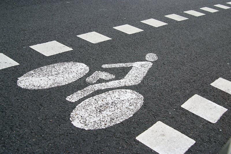 Segno della pista ciclabile fotografie stock