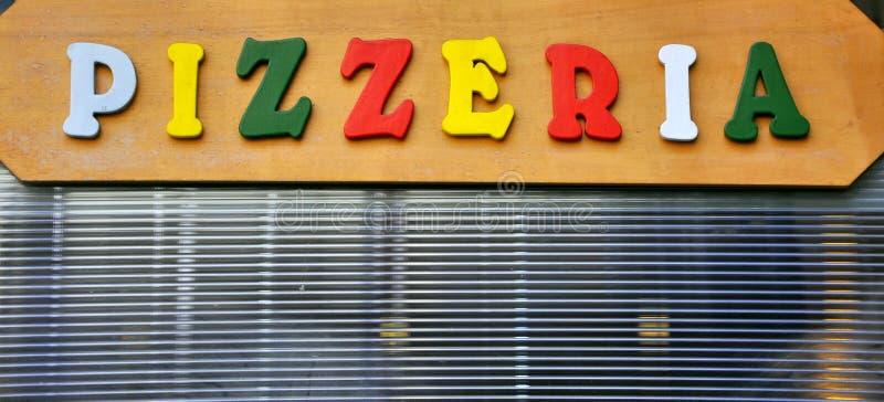 Segno della pizza fotografie stock libere da diritti