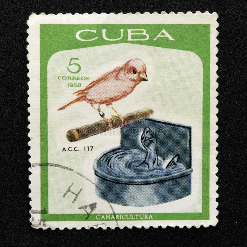 Segno della posta cubana immagini stock