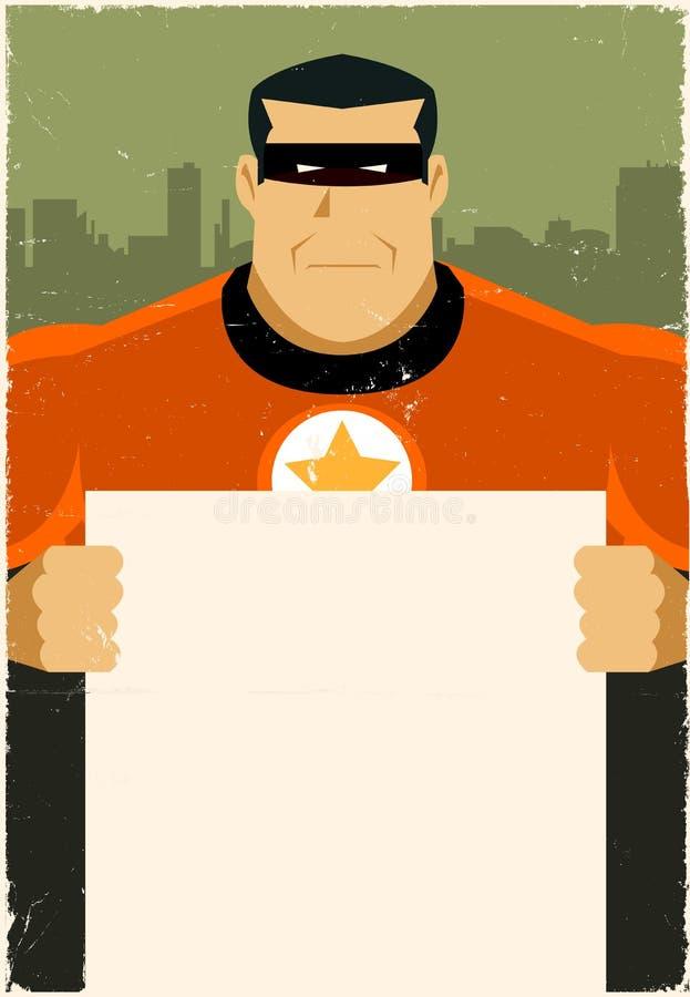 Segno della pubblicità dell'eroe eccellente royalty illustrazione gratis