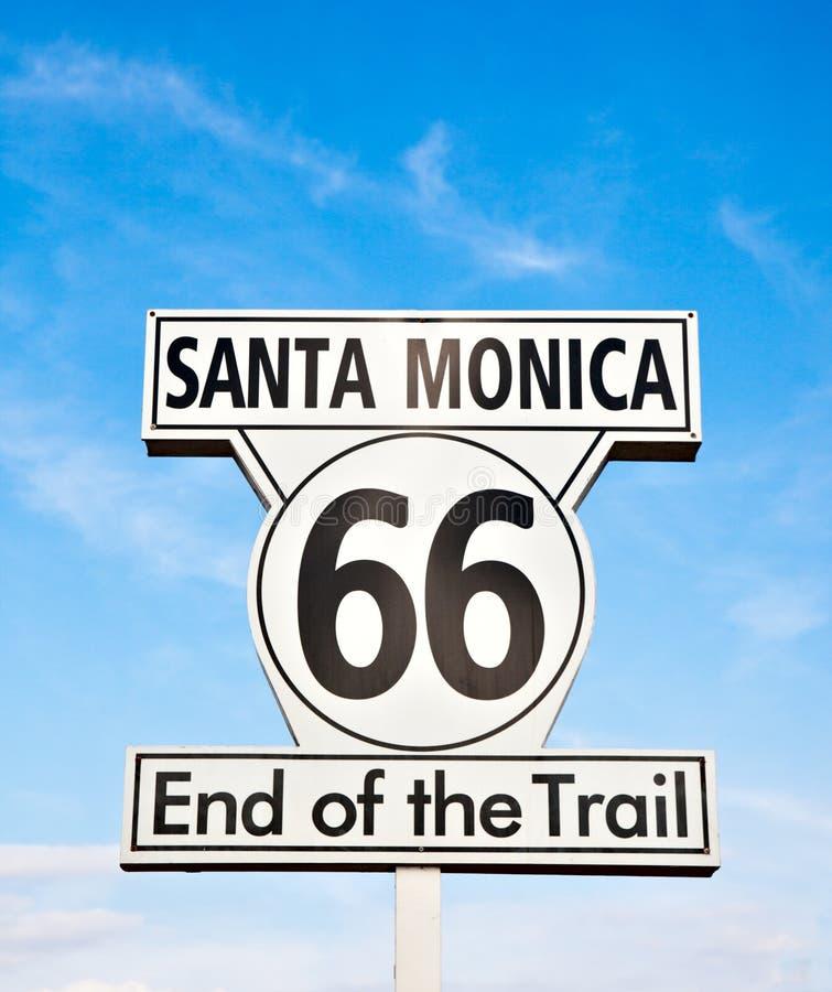 Segno della Santa Monica fotografia stock