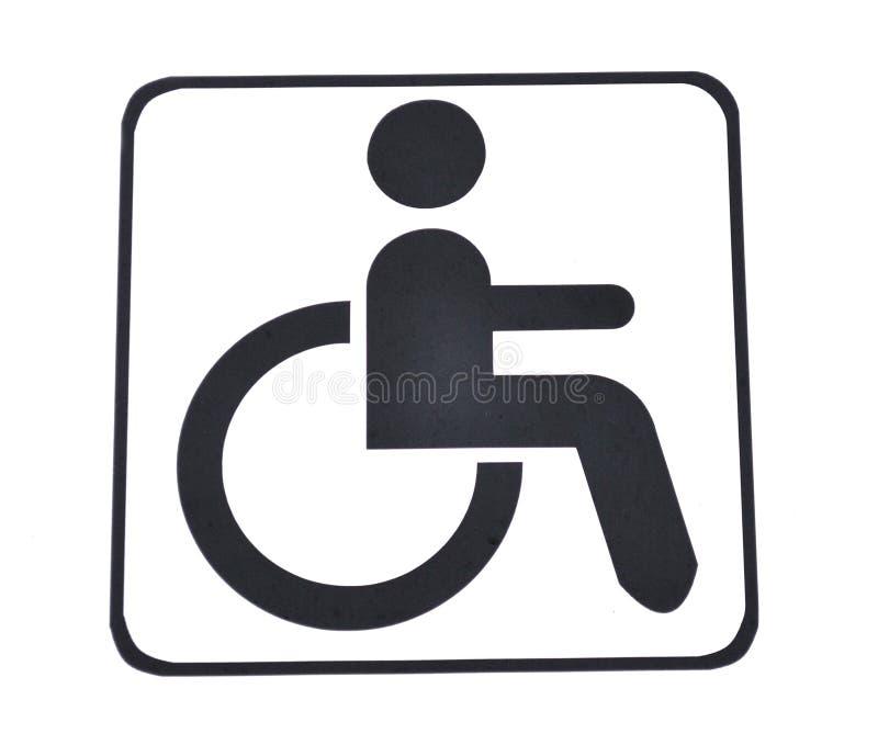 Segno della sedia a rotelle fotografia stock