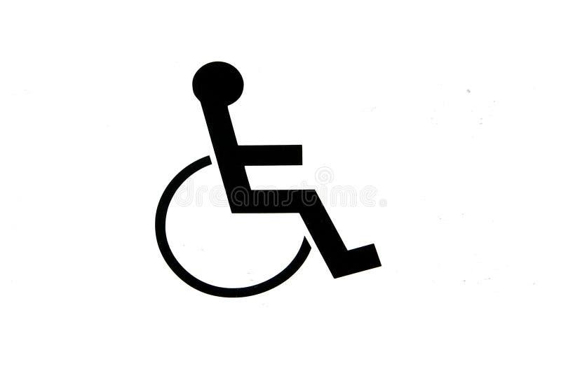 Segno della sedia a rotelle immagini stock libere da diritti