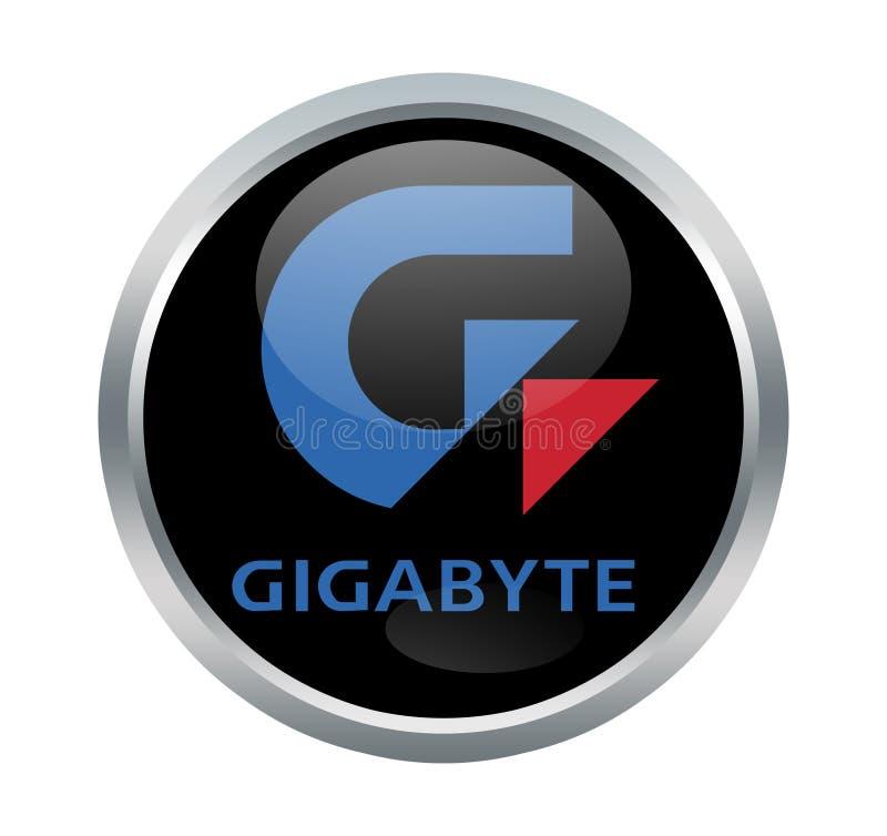 Segno della società di gigabyte illustrazione di stock