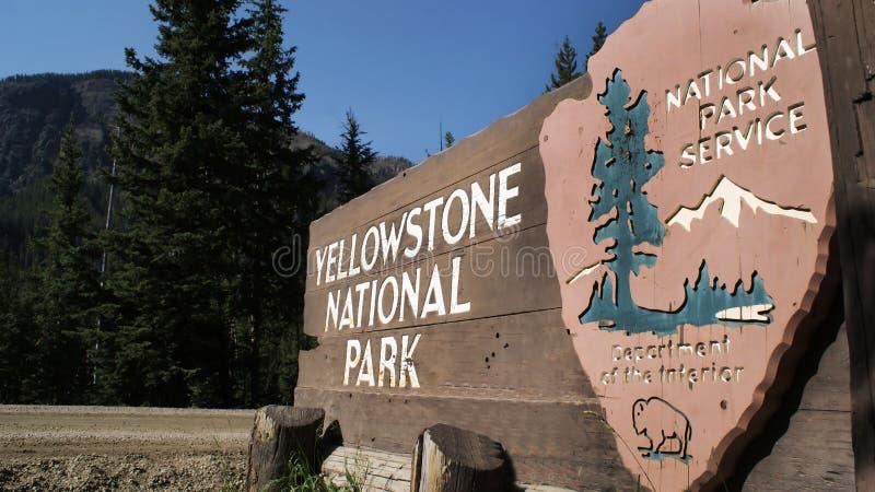 Segno della sosta del Yellowstone immagine stock