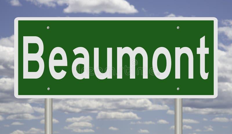 Segno della strada principale per Beaumont il Texas fotografia stock libera da diritti