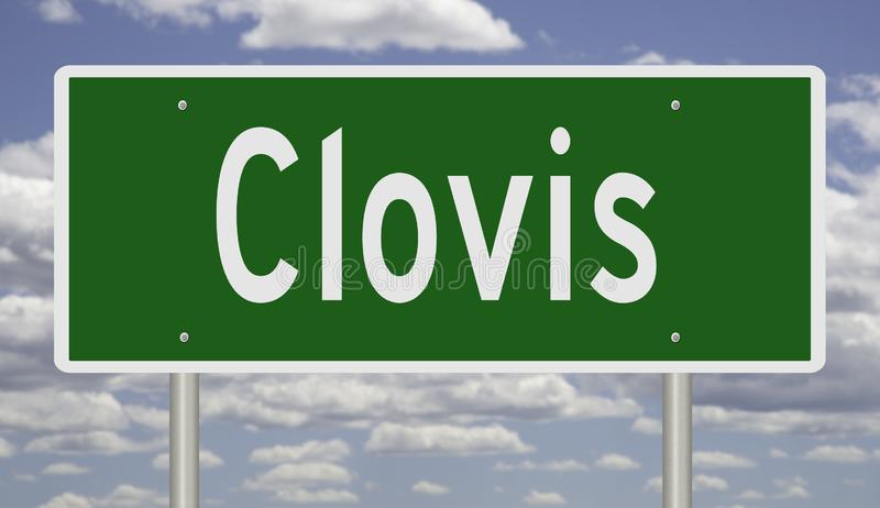Segno della strada principale per Clovis New Mexico fotografie stock