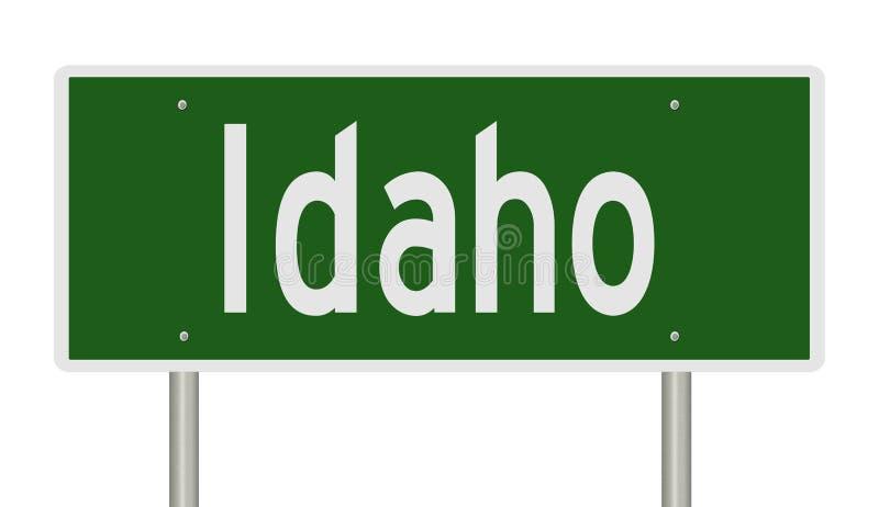 Segno della strada principale per l'Idaho royalty illustrazione gratis